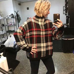 Sweaters - Plaid Sweater